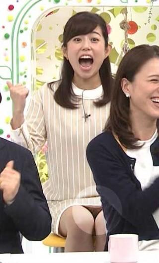 塩尻奈都子アナパンチラ放送事故エロお宝画像1-2