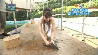 関口奈美おっぱいの谷間胸チラリ放送事故エロお宝画像