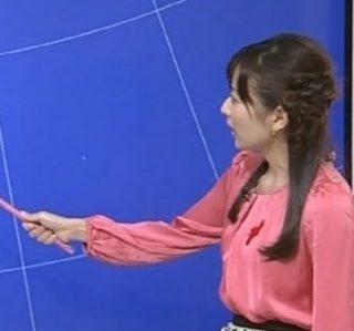 関口奈美キャスターの手画像