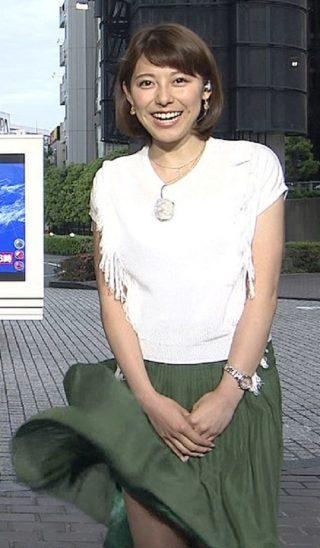 上村彩子アナ太ももチラリエロお宝画像